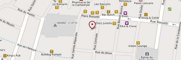 Carte Place Rossetti - Nice