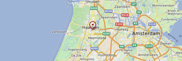 Carte Haarlem - Pays-Bas