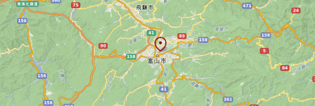 Carte Takayama - Japon