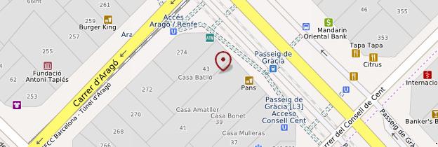 Carte Casa Amatller - Barcelone