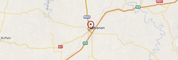 Carte Lebanon - États-Unis