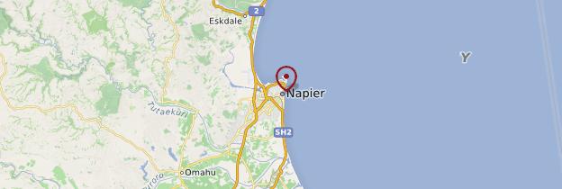 Carte Napier - Nouvelle-Zélande