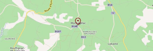 Carte Monbazillac - Périgord - Dordogne