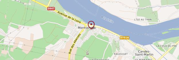 Carte Montsoreau - Pays de la Loire