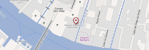 Carte Palazzo Cavalli-Franchetti - Venise