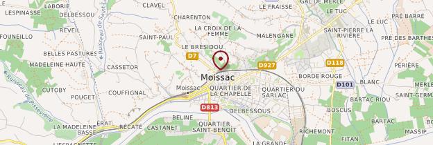 Carte Moissac - Midi-Pyrénées