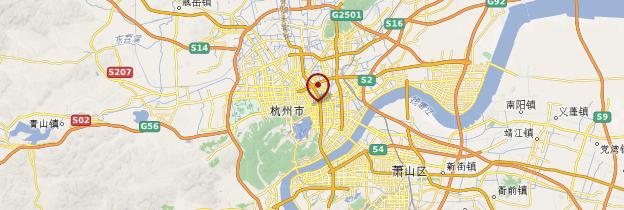 Carte Hangzhou - Chine
