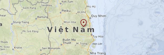 Carte Hauts plateaux du centre - Vietnam