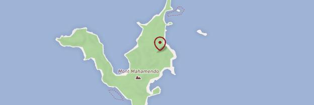 Carte Île de Nosy Mitsio - Madagascar