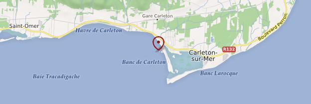 Carte Carleton-sur-Mer - Québec