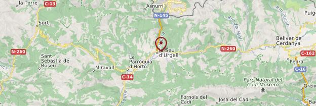 Carte Seu d'Urgell - Catalogne
