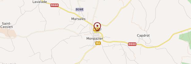 Carte Monpazier - Périgord - Dordogne