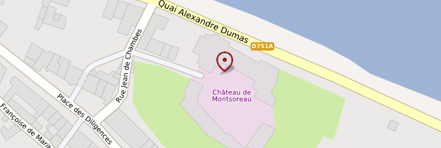 Carte Château de Montsoreau - Musée d'art contemporain - Pays de la Loire