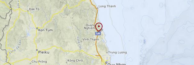 Carte Côte de la mer de Chine - Vietnam