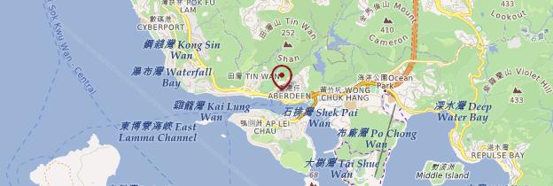 Carte Aberdeen - Hong Kong