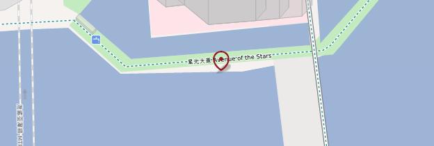 Carte Avenue of Stars - Hong Kong