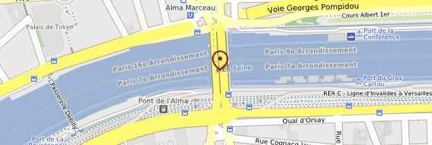 Carte Pont de l'Alma - Paris