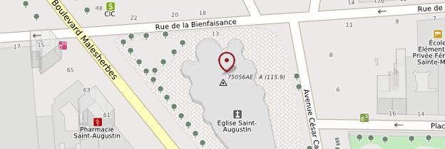 Carte Église Saint-Augustin - Paris