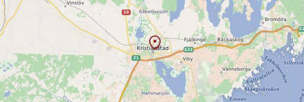 Carte Kristianstad - Suède