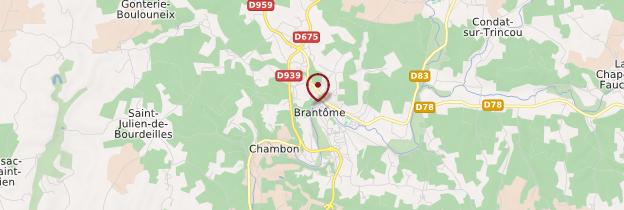 Carte Brantôme - Périgord - Dordogne