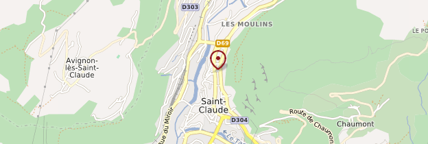 Carte Saint-Claude - Franche-Comté