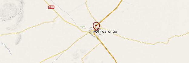 Carte Otjiwarongo - Namibie