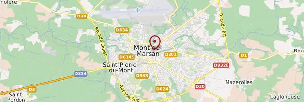Carte Mont-de-Marsan - Aquitaine