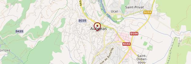 Carte Région d'Aubenas - Ardèche, Drôme
