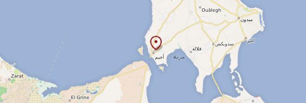 Carte Ajim - Tunisie