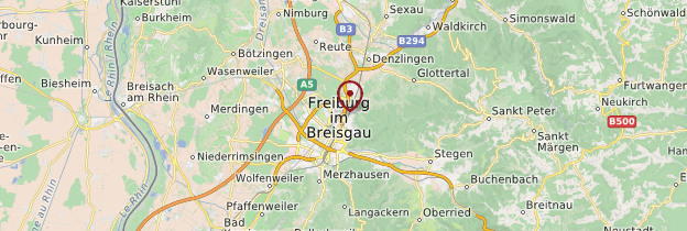 Carte Freiburg im Breisgau (Fribourg-en-Brisgau) - Allemagne