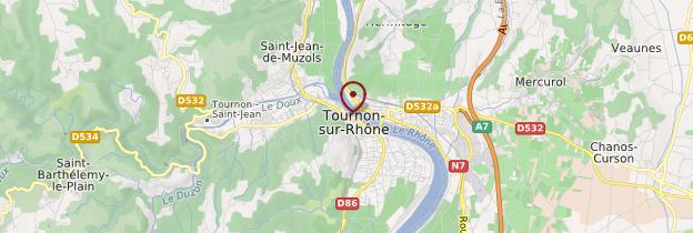 Carte Tournon-sur-Rhône - Ardèche, Drôme