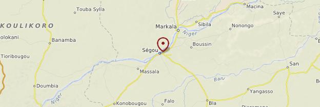 Carte Régions de Ségou et Mopti - Mali