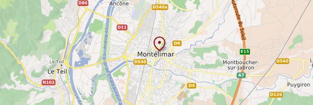 Carte Montélimar - Ardèche, Drôme