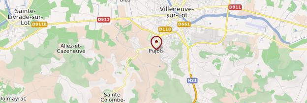 Carte Pujols - Aquitaine - Bordelais, Landes