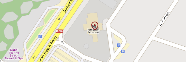 Carte Mosquée de Jumeirah - Dubaï
