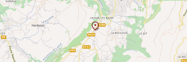 Carte Uriage-les-Bains - Alpes