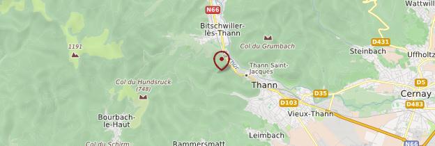 Carte Thann - Alsace