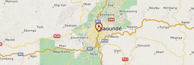 Carte Yaoundé - Cameroun