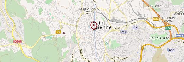 Carte Saint-Étienne - Lyon et ses environs