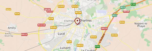 Carte Chartres - Châteaux de la Loire