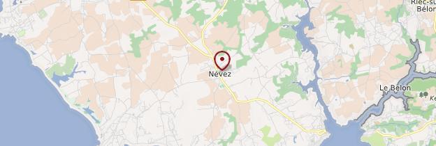 Carte Névez (Nevez) - Bretagne