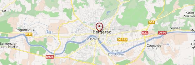 Carte Bergerac - Périgord - Dordogne
