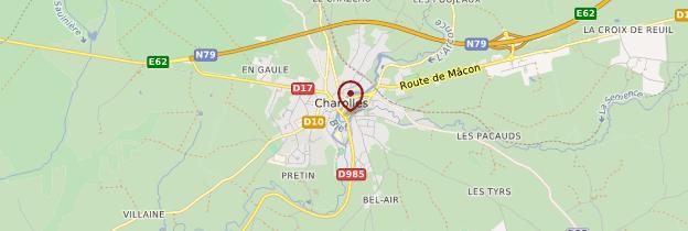 Carte Charolles - Bourgogne