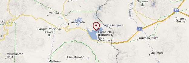 Carte Lago Chungara - Chili