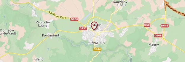 Carte Avallon - Bourgogne