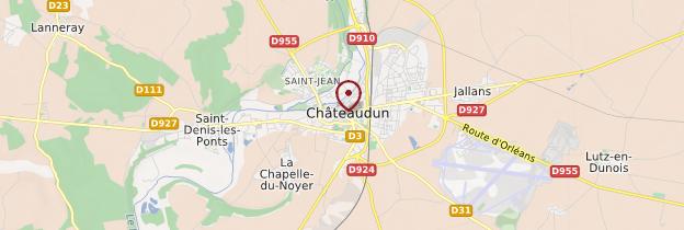 Carte Châteaudun - Châteaux de la Loire