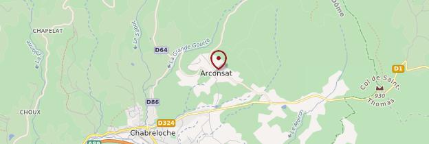 Carte Arconsat - Auvergne