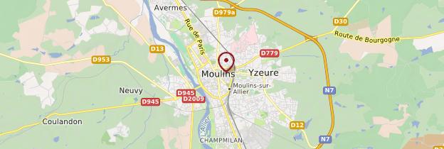 Carte Moulins - Auvergne