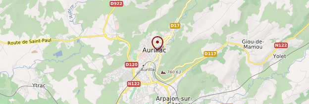 Carte Aurillac - Auvergne