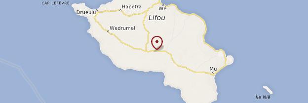 Carte Lifou - Nouvelle-Calédonie